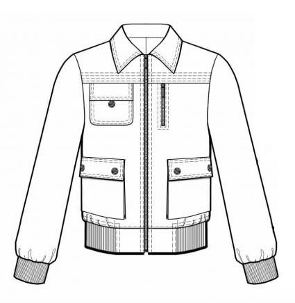 Куртка укороченная на резинке брюки (Схема изделия)