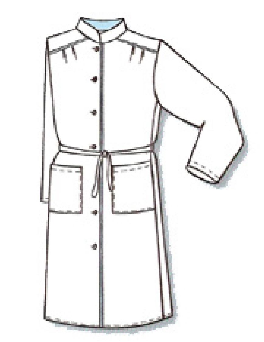 Халат медицинский (Схема изделия)