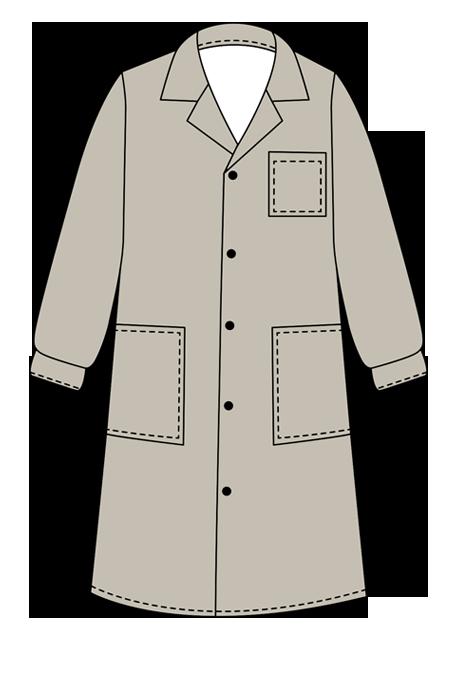 Халат рабочий (Схема изделия)