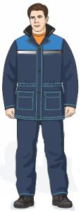 Куртка прямая удлиненная брюки (Схема изделия)